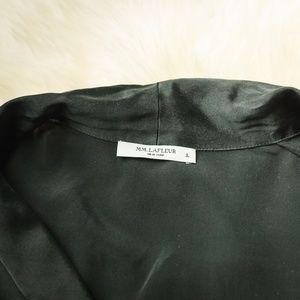 914082d97e MM Lafleur Intimates   Sleepwear - MM.Lafleur L Black White Silk Piped PJ  Top